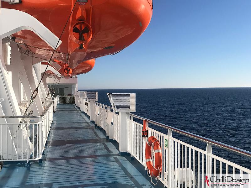 On the ship M/S Visborg